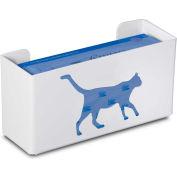 """TrippNT 50851 Cat Single Glove Box Holder & Dispenser, 11"""" W x 6"""" H x 4"""" D, White, Styrene"""