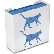 """TrippNT 50852 Cat Double Glove Box Holder & Dispenser, 11"""" W x 10"""" H x 4"""" D, White, Styrene"""