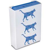 """TrippNT 50853 Cat Triple Glove Box Holder & Dispenser, 11"""" W x 15"""" H x 4"""" D, White, Styrene"""