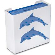 "TrippNT 50856 Dolphin Double Glove Box Holder & Dispenser, 11"" W x 10"" H x 4"" D, White, Styrene"