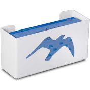 """TrippNT 50866 Seagull Single Glove Box Holder & Dispenser, 11"""" W x 6"""" H x 4"""" D, White, Styrene"""