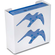 "TrippNT 50867 Seagull Double Glove Box Holder & Dispenser, 11"" W x 10"" H x 4"" D, White, Styrene"