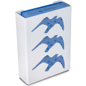 """TrippNT 50868 Seagull Triple Glove Box Holder & Dispenser, 11"""" W x 15"""" H x 4"""" D, White, Styrene"""