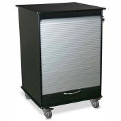 "TrippNT 51002 Small Black/Silver Polyethylene Mobile Lab Cabinet 24""W x 35""H x 24""D"