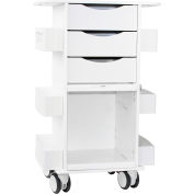 "TrippNT™ Deluxe Medical Cart with Clear Sliding Door, White, 23""W x 19""D x 35""H"