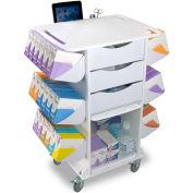 "TrippNT™ 51027 White Polyethylene Core CL Suture Procedure Cart, 27""W x 19""D x 36""H"