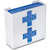 """TrippNT 51048 Medical Cross Double Glove Box Holder & Dispenser, 11"""" W x 10"""" H x 4""""D, White, Styrene"""