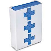 """TrippNT 51049 Medical Cross Triple Glove Box Holder & Dispenser, 11"""" W x 15"""" H x 4""""D, White, Styrene"""