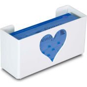 """TrippNT 51050 Heart Single Glove Box Holder & Dispenser, 11"""" W x 6"""" H x 4"""" D, White, Styrene"""
