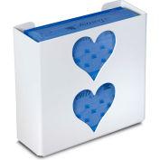 """TrippNT 51051 Heart Double Glove Box Holder & Dispenser, 11"""" W x 10"""" H x 4"""" D, White, Styrene"""