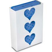 """TrippNT 51052 Heart Triple Glove Box Holder & Dispenser, 11"""" W x 15"""" H x 4"""" D, White, Styrene"""
