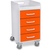 "TrippNT™ 51147 Compact Drawer Hospital Medical Cart 14"" x 19"" x 27"" Pumpkin Orange"
