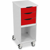 "TrippNT™ 51186 Core SP Space Saving Hospital Medical Lab Cart 15"" x 19"" x 35"" Cherry Red"