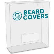 "TrippNT™ Beard Covers Labeled Medium Apparel Dispenser, 15""W x 6""D x 18""H, Clear"