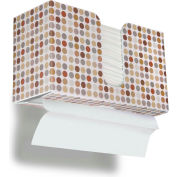 TrippNT Dual Dispensing Paper Towel Holder, Designer Retro Dots - 51339