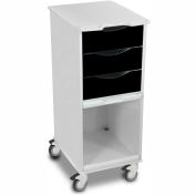 "TrippNT™ 51365 Core SP Space Saving Hospital Medical Lab Cart 15"" x 19"" x 35"" Black"