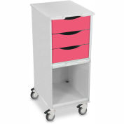 "TrippNT™ 51366 Core SP Space Saving Hospital Medical Lab Cart 15"" x 19"" x 35"" Watermelon Pink"