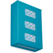 "TrippNT Ultimate Plain Triple Dual Dispensing Glove Holder, 52027, 10""Wx4""D, Bahamas Sea Teal"