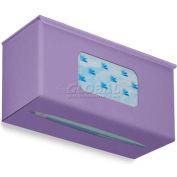 "TrippNT Ultimate Plain Single Dual Dispensing Glove Holder, 52028, 10""Wx4""D, Gum Drop Purple"