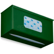 "TrippNT Ultimate Plain Single Dual Dispensing Glove Holder, 52043, 10""Wx4""D, Hosta Leaf Green"