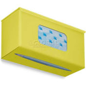 "TrippNT Ultimate Plain Single Dual Dispensing Glove Holder, 52049, 10""Wx4""D, Bright Idea Yellow"