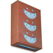 """TrippNT Ultimate Smiley Face Triple Dual Dispensing Glove Holder, 10""""Wx4""""D, Sparkling Canyon Copper"""