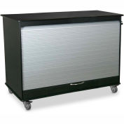 "TrippNT 52937 Medium Black/Silver Polyethylene Mobile Lab Cabinet 48""W x 35""H x 24""D"