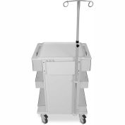"TrippNT™ 52951 Element Healthcare Cart Telescoping I.V. Pole Module, 10""W x 3""D x 39""- 73""H"