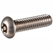 "8-32 x 1"" Security Machine Screw - Button Torx Plus Head - 18-8 Stainless Steel - FT - UNC - 100 Pk"