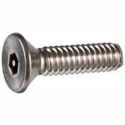 "8-32 x 1-1/2"" Security Machine Screw - Flat Hex Socket Head - 302HQ/18-8 SS - FT - UNC - 100 Pk"