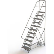 11 Step Steel Easy Turn Rolling Ladder, Serrated Tread, Safety Angle - KDAD111242