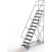12 Step Steel Easy Turn Rolling Ladder, Serrated Tread, Safety Angle - KDAD112242