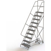 10 Step Steel Easy Turn Rolling Ladder, Serrated Tread, Standard Angle - KDED110242