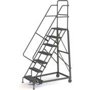 7 Step Grip Strut 600 Lb. Cap. Heavy Duty Steel Rolling Ladder - KDHD107242