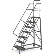 7 Step Perforated Strut 600 Lb. Cap. Heavy Duty Steel Rolling Ladder - KDHD107246