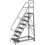 8 Step Grip Strut 600 Lb. Cap. Heavy Duty Steel Rolling Ladder - KDHD108242