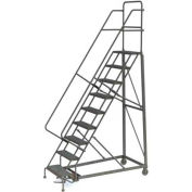 9 Step Perforated Strut 600 Lb. Cap. Heavy Duty Steel Rolling Ladder - KDHD109246