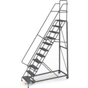 11 Step Perforated Strut 600 Lb. Cap. Heavy Duty Steel Rolling Ladder - KDHD111246