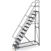 12 Step Perforated Strut 600 Lb. Cap. Heavy Duty Steel Rolling Ladder - KDHD112246
