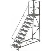 9 Step Forward Descent 50 Deg. Incline Steel Rolling Ladder Rear Exit Gate, Serr. - RWEC109242-XR