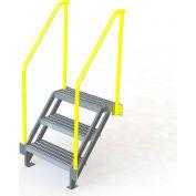 "U-Design Max-Access Aluminum Work Platforms - 3 Step 30""H 50 Deg. Stair Unit - UAP0350"
