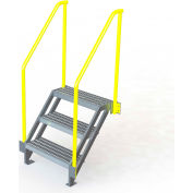 "U-Design Max-Access Aluminum Work Platforms - 3 Step 30""H 50 Deg. Stair Unit - UAP0350"
