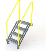 "U-Design Max-Access Aluminum Work Platforms - 4 Step 40""H 50 Deg. Stair Unit - UAP0450"
