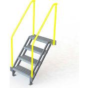 "U-Design Max-Access Aluminum Work Platforms - 4 Step 40""H 50 Deg. Stair Unit - UAP0450"