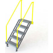"U-Design Max-Access Aluminum Work Platforms - 5 Step 50""H 50 Deg. Stair Unit - UAP0550"