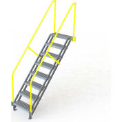 "U-Design Max-Access Aluminum Work Platforms - 8 Step 80""H 50 Deg. Stair Unit - UAP0850"