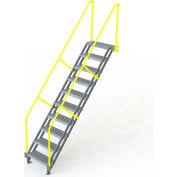 "U-Design Max-Access Aluminum Work Platforms - 10 Step 100""H 50 Deg. Stair Unit - UAP1050"