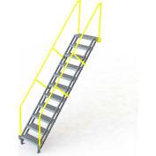 "U-Design Max-Access Aluminum Work Platforms - 11 Step 110""H 50 Deg. Stair Unit - UAP1150"