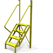 "4 Step 50° Incline Ladder, 24""W Perforated Tread - UCL5004246"