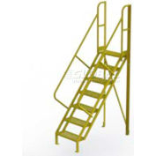 "7 Step 50° Incline Ladder - 24""W Grip Strut"